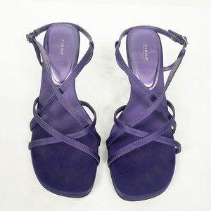 Fioni Women's Purple Satin Pumps Heels Shoes